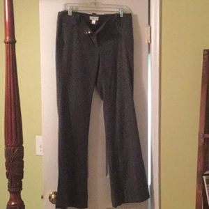 Dark gray speckled wool trousers